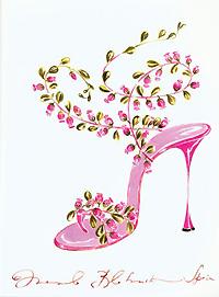 Dessin du créateur de chaussures Manolo Blahnik