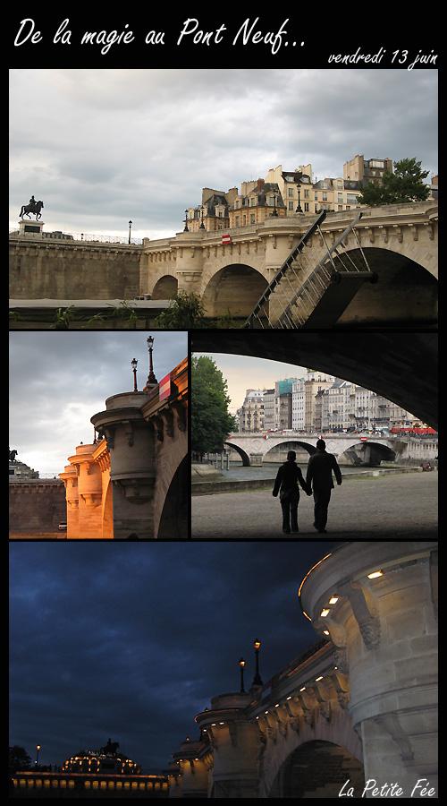 Le Pont Neuf à Paris sue les quais de Seine