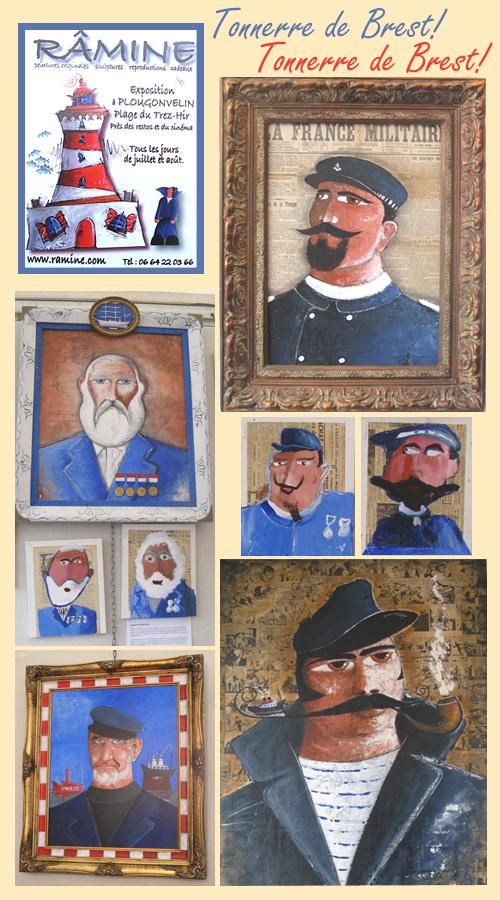 Exposition à Brest 2008 du peintre Râmine