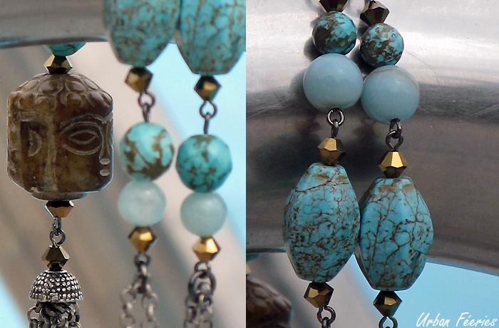 Sautoir turquoise urban feeries