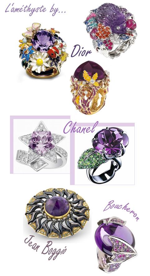 Bijoux en améthyste Dior Chanel Boucheron Jean Boggio