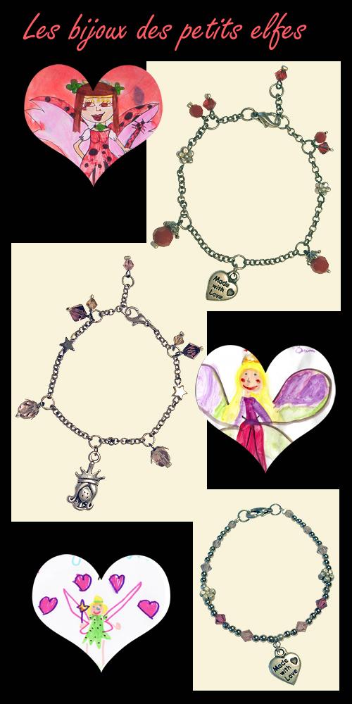 bracelets à breloques et cristaux swarovski