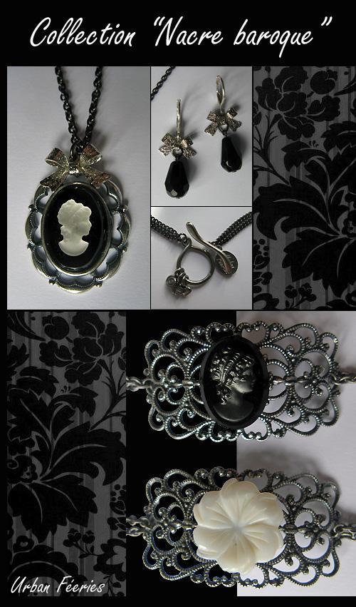 Bracelets urban Féeries collection 2009 nacre baroque