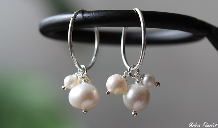 boucles oreilles perles creoles urban feeries