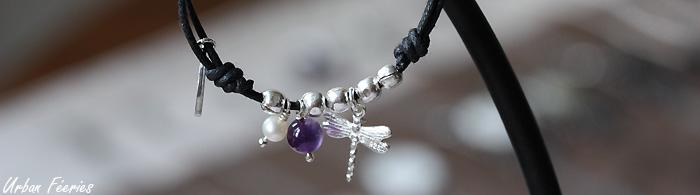 bracelet coton argent libellule urban feeries