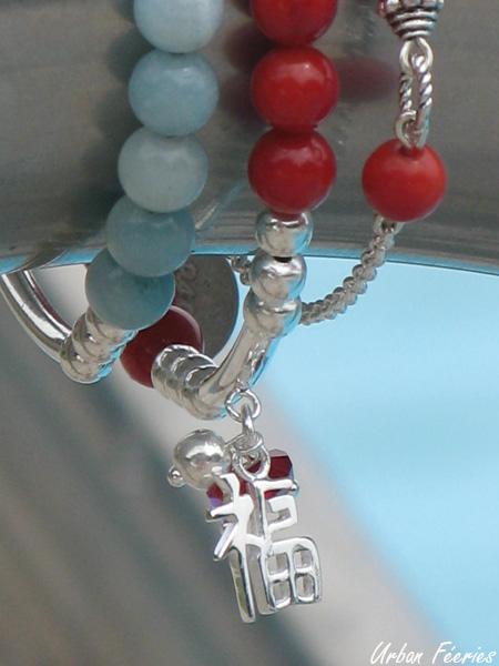 Bracelets amazonite corail urban feeries