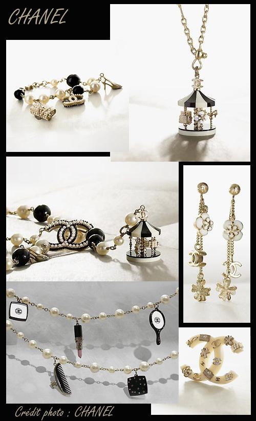 Accessoires bijoux fantaisie chanel