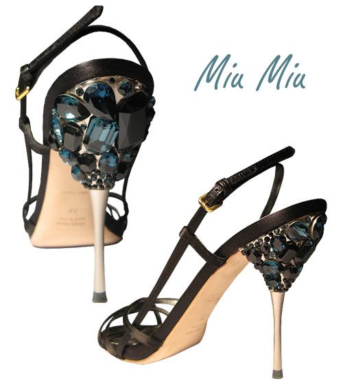 Sandales bijoux de Miu Miu