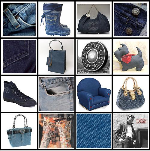 objets en jean ou denim