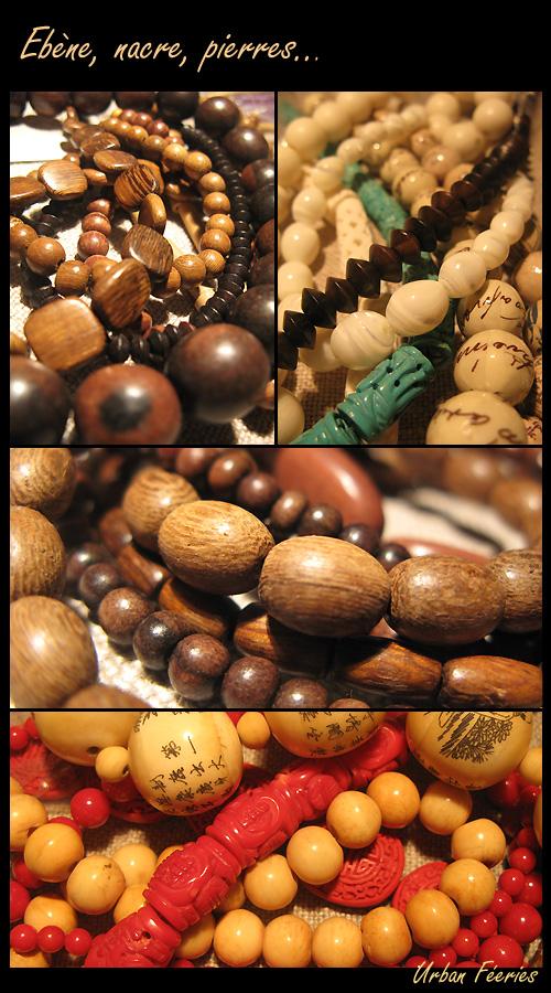 perles en ebene nacre bois