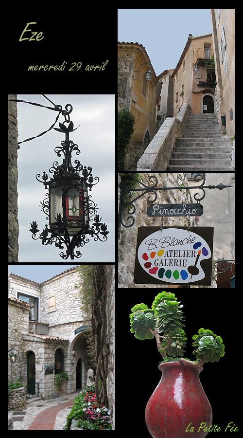 le vieux village d'èze perché sur son rocher