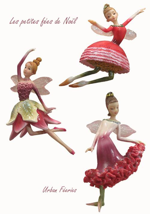 Petites fées pour décorer le sapin de Noël