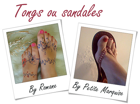 Photos de tongs ou sandales