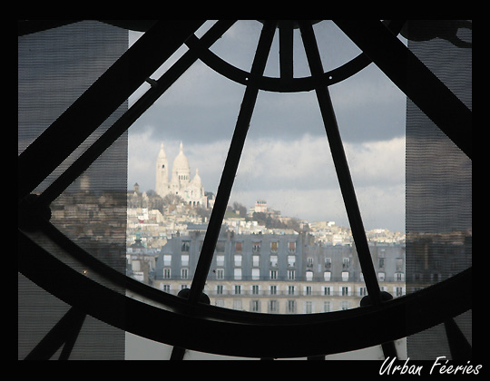 Montmartre vu de l'horloge du musée d'orsay