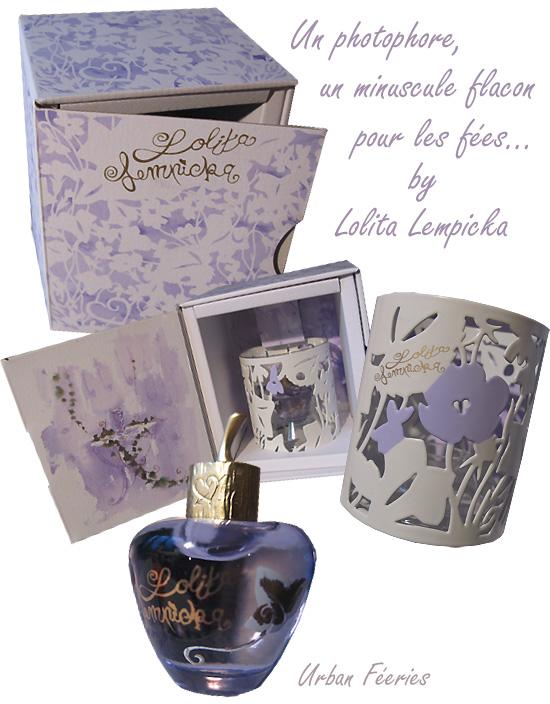 miniature et photophore parfum Lolita Lempicka=