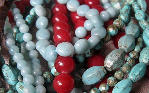 pierres agate amazonite turquoise