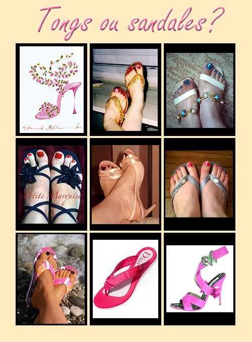 photos de tongs ou sandales pour le concours de la Fée Clochette