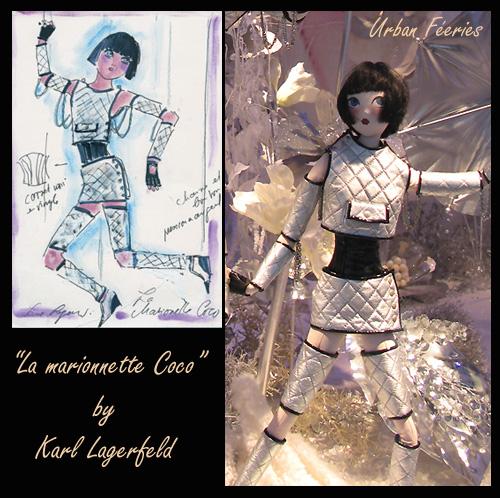 vitrine créée par karl lagerfeld pour le printemps Paris